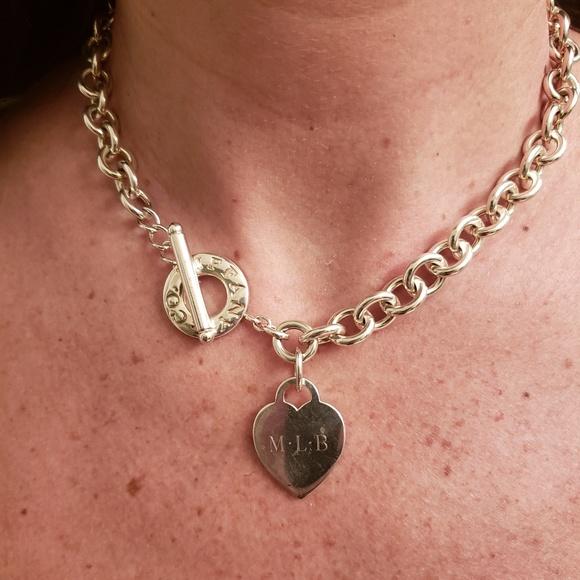 bcd6a75d6 Tiffany & Co. Jewelry | Tiffany And Company Heart Toggle Necklace ...